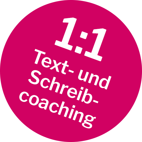 Einzelcoaching Texten und Schreiben